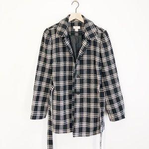 Ann Taylor LOFT Houndstooth Coat Size Medium
